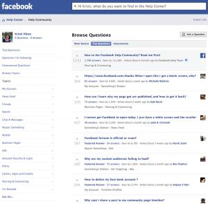 фейсбук съпорт